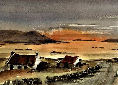 Painting - F 829  Omey Sunset, Galway by Val Byrne
