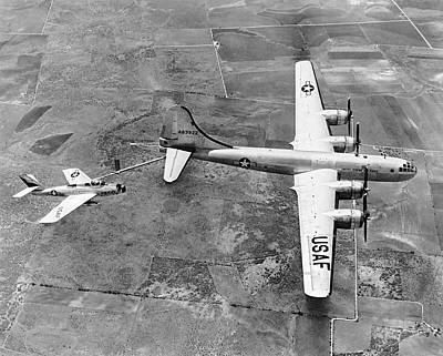 Photograph - F-84f Thunderstreak Refueled by Underwood Archives