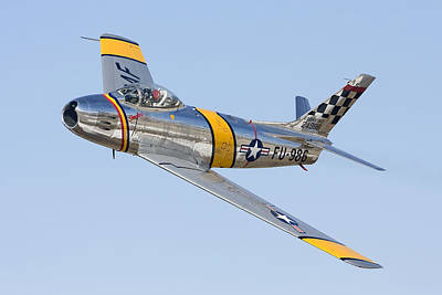 Photograph - F-86 Sabre Flyby by Liza Eckardt