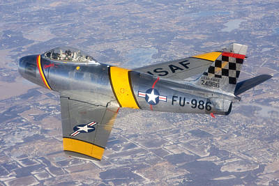 Photograph - F-86 Sabre Flying 1 by Liza Eckardt