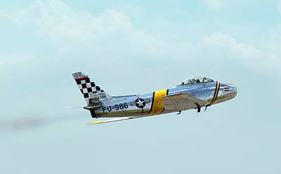 Photograph - F-86 Sabre by Peter Chilelli