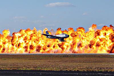 F-86 Wall Of Fire Art Print by Mark Weaver