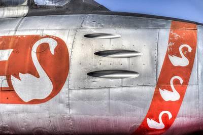 Photograph - F-86e Sabre Flying Swans by David Pyatt