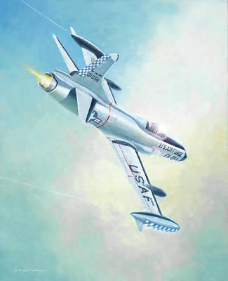 Painting - F-94c Starfire by Douglas Castleman