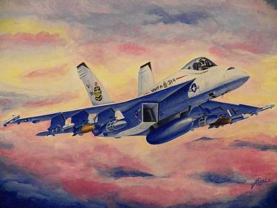F/a-18 Fighter Original by Jim Reale