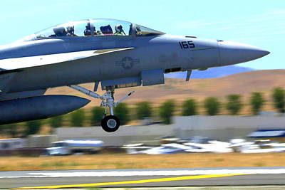 Photograph - F/a 18 Hornet Departs Hollister Air Show by John King