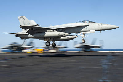 Battle Painting - F A-18 Super Hornet Us Navy by Celestial Images