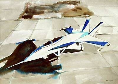Painting - F/a18 Super Hornet by Ed Heaton