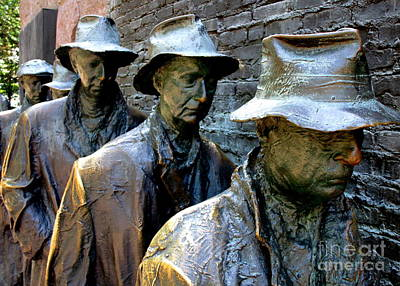 Bread Line Photograph - F D R Memorial 11 by Randall Weidner