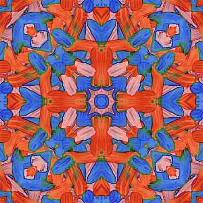 Digital Art - F E B -month- -pattern- by Coded Images
