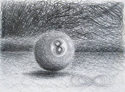 F. Eight Ball No. 2 Art Print