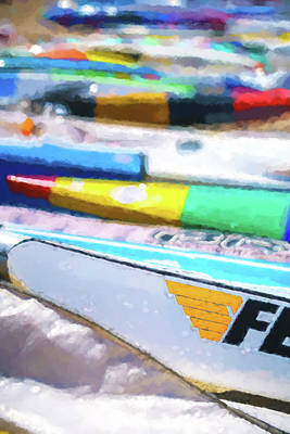 Digital Art - F Is For Fast 1  Sea Kayak Watercolor by Scott Campbell