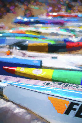 Digital Art - F Is For Fast 2  Sea Kayak Watercolor by Scott Campbell