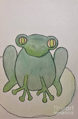 Painting - F Is For Frog by Tonya Henderson