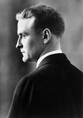 F. Scott Fitzgerald Circa 1925 Art Print