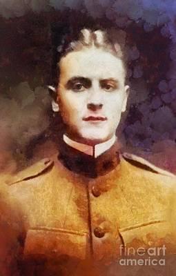 Literature Painting - F. Scott Fitzgerald, Literary Legend by Sarah Kirk