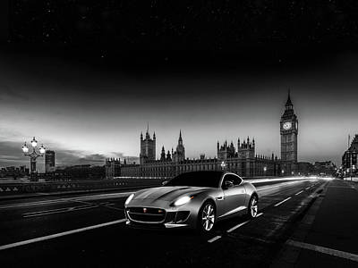 London Bridge Photograph - F-type In London by Mark Rogan