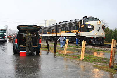 Photograph - Ns Executive Train In The Rain by Joseph C Hinson Photography