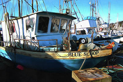 Photograph - F/v Blue Scoop by Thom Zehrfeld