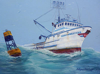 Salmon Painting - F/v Northwestern by Wayne Enslow