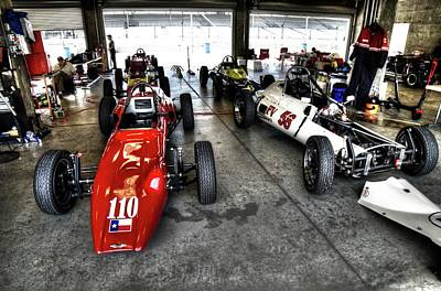 Photograph - F1 Garages At Ims by Josh Williams