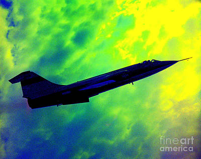 Photograph - F104 In Clouds - 2 by Greg Moores