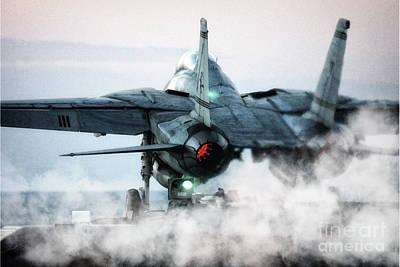 Transportation Digital Art - F14 Tomcat Launch by Airpower Art