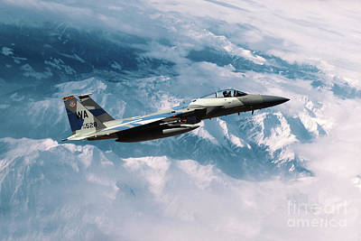 F15 Eagle Agressor Art Print by J Biggadike