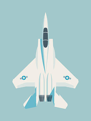 F15 Wall Art - Digital Art - F15 Eagle Fighter Jet Aircraft - Sky by Ivan Krpan