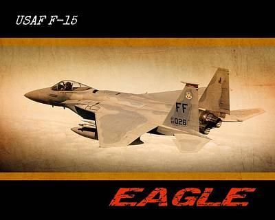 Digital Art - F15 Eagle by John Wills