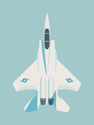 Air Force Poster Digital Art - F15 Eagle Us Air Force Fighter Jet Aircraft - Sky by Ivan Krpan