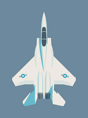 F15 Wall Art - Digital Art - F15 Eagle Fighter Jet Aircraft - Slate by Ivan Krpan