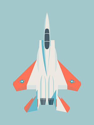 Air Force Poster Digital Art - F15 Eagle Us Air Force Fighter Jet Aircraft - Test Sky by Ivan Krpan