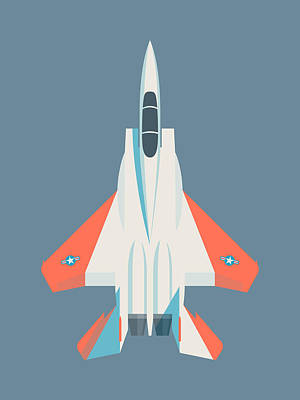 Air Force Poster Digital Art - F15 Eagle Us Air Force Fighter Jet Aircraft - Test Slate by Ivan Krpan