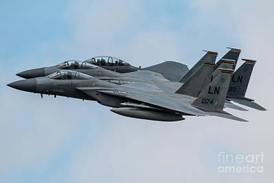 F15e Wall Art - Digital Art - F15 Eagles 48th Fw by J Biggadike