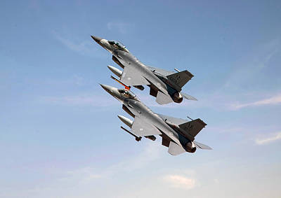 F16 Photograph - F16  Still The Wild Blue Beckons by Pat Speirs