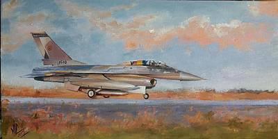 Painting - F16 by Vali Irina Ciobanu