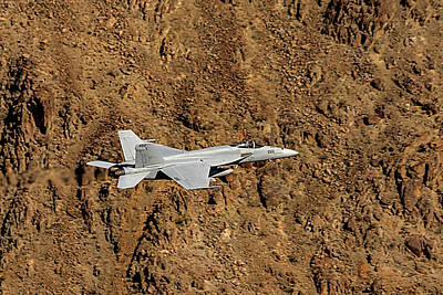 Photograph - F18 Lighting Up Rainbow Canyon by Bill Gallagher