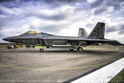 Photograph - F22 Raptor In Hdr by Michael White