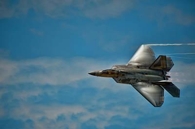 F-22 Photograph - F22 Raptor Steals The Show by Dan McManus