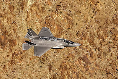Photograph - F35 Lightning From Above At The Jedi Transition by Bill Gallagher