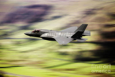 Aviation Digital Art - F35 Low Level by J Biggadike