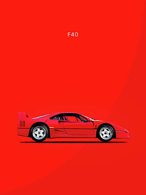 F40 Photograph - F40 by Mark Rogan