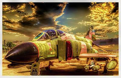Art Print featuring the photograph F4c Phantom Jet by Steve Benefiel