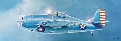 Painting - F4f Wildcat by Douglas Castleman