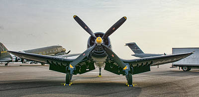 Photograph - F4u-4 Corsair - The Korean Hero by John Black