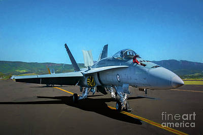 Photograph - Fa18 Hornet by Stuart Row