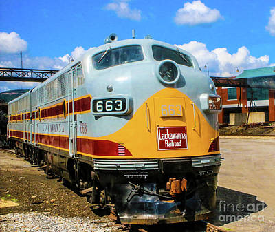 504 Photograph - Fa3 Lackawanna Railroad by William Rogers