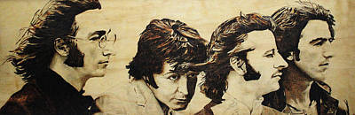 Brittish Pyrography - Fab Four by Michael Garbe