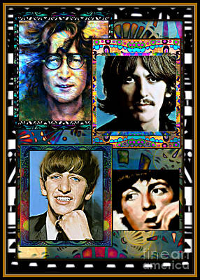 Montage Mixed Media - Fab Four by Wbk